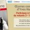 Le troisième volume des Oeuvres Complètes d'Yves Navarre