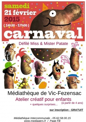 atelier carnaval mister patate
