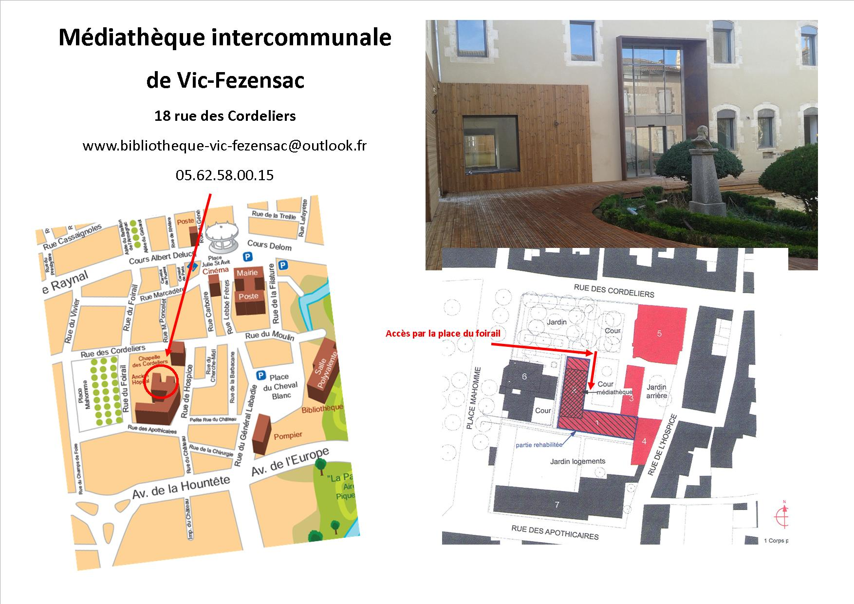 plan acces mediatheque
